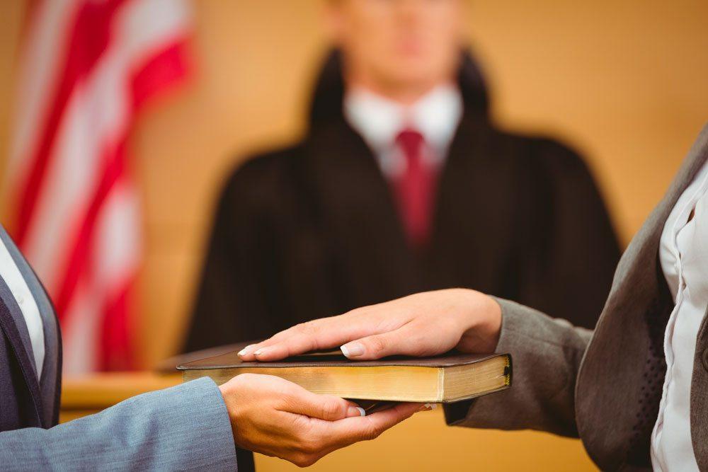 Testemunhas são presas em flagrante por mentirem